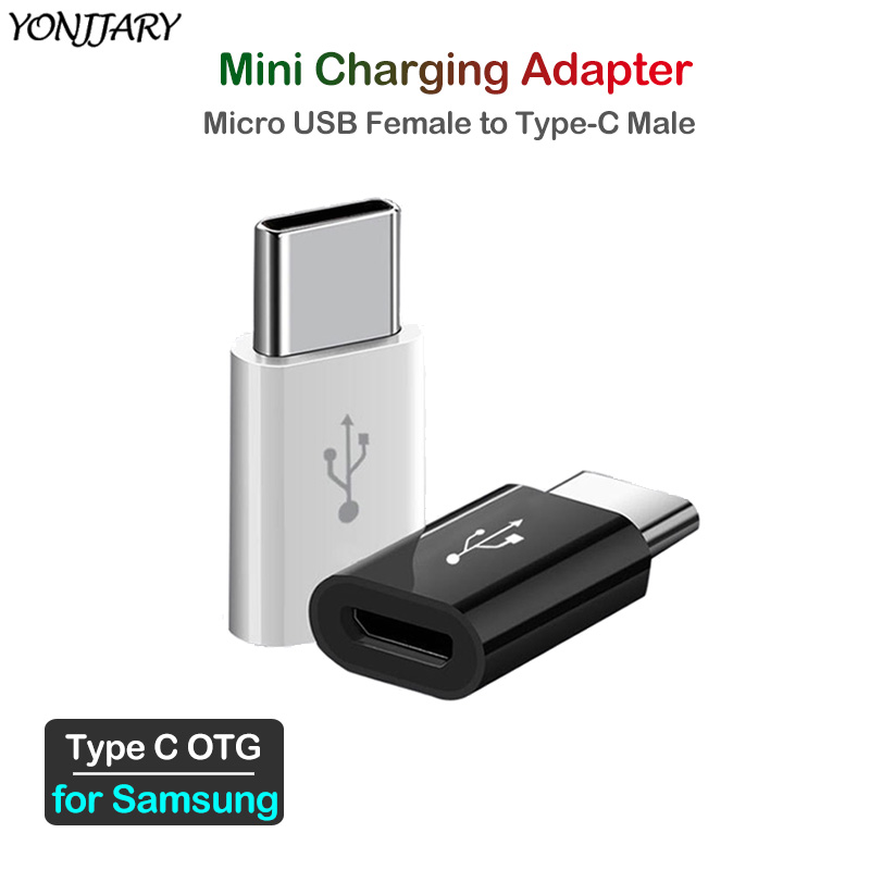 2Pcs Micro USB To Type C Charging Adapter For Samsung Galaxy Note 8 9 10 S8 S9 S10 S20 Plus A40 A50 A51 A70 A71 USB OTG Adapter
