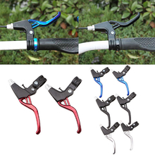 2pcs Bicycle Brake Handle Parts Mountain Bike Brake Lever Aluminum Alloy Brake V-brake Ultra-light Mountain Brakes Lever mountain road bicycle brake lever colorful aluminium alloy universal handle front folding bike lever disccycling accessories