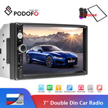 "Podofo 2 DIN Mobil Radio Bluetooth 7 ""Layar Sentuh Stereo FM Audio Stereo MP5 Player SD USB 12V HD 2din Cassette Recorder Stereo(Hong Kong,China)"