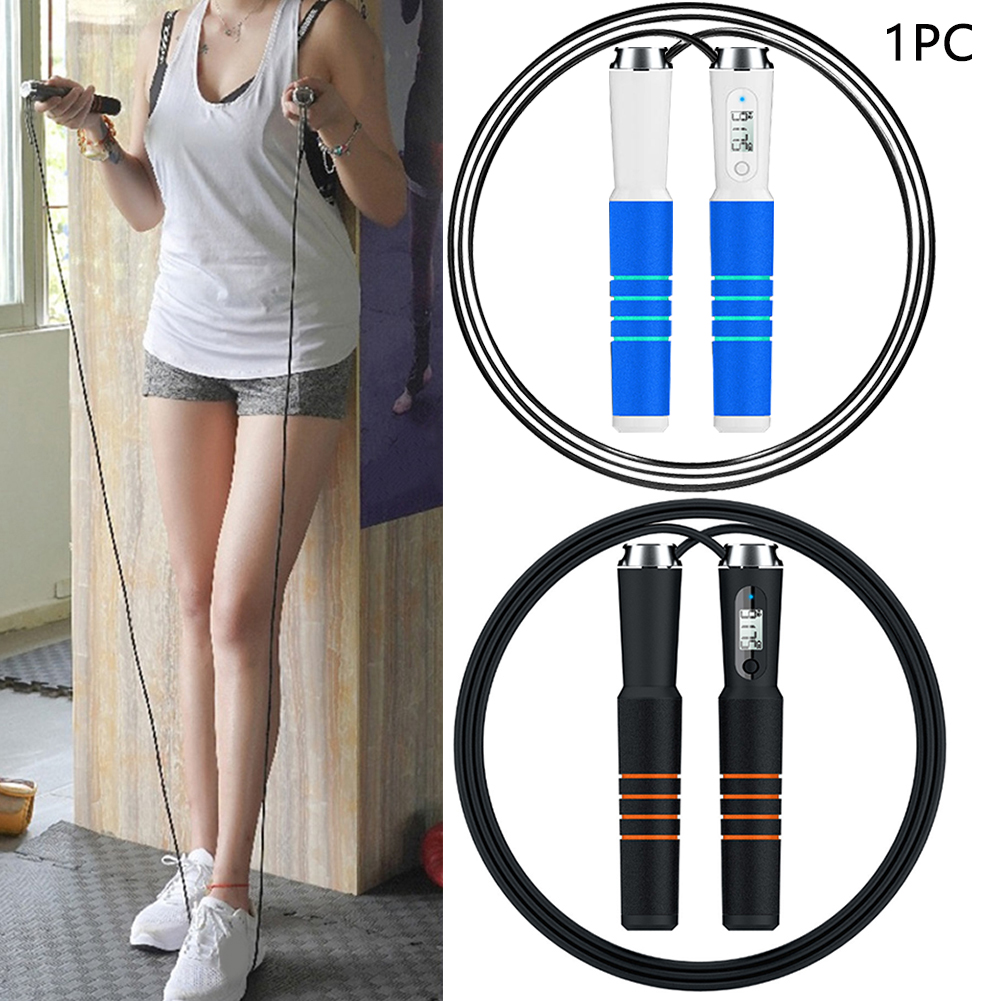 APP Weight Setting Digital Speed Counter Bluetooth 4.0 Non-Slip Reminder Adjustable Calorie Exercise Smart Skipping Rope Alarm image