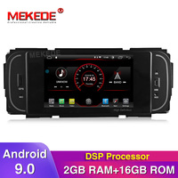 New arrival!Built in DSP android 9.0 car gps radio player for Dodge JEEP Wrangler Compass Patriot Grand Cherokee wifi BT navi