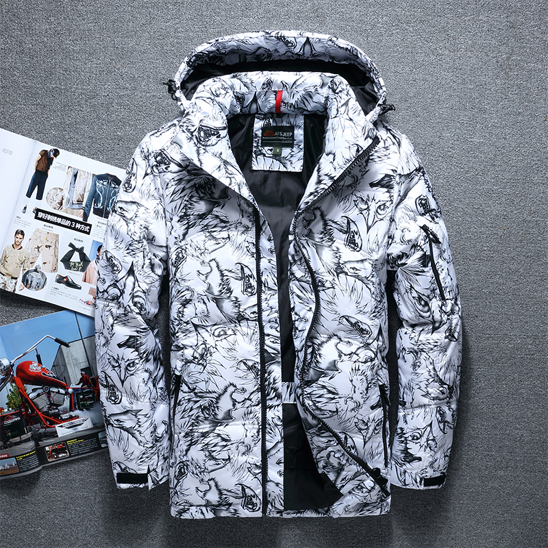 New Arrival 2019 Winter Men's Down Jacket Thermal Outdoors Windproof White Duck Down Jacket Men Parka Homme Men's Winter Coat