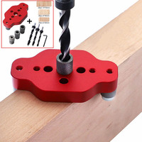 6/8/10mm Self Centering Drill Guide Kit Vertical Pocket Hole Jig Woodworking Drilling Locator Dowelling Hole Puncher
