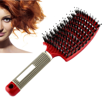 4 Color Women Hair Scalp Massage Comb Bristle Nylon Hairbrush Wet Curly Detangle Hair Brush for Salon Hairdressing Styling Tools 4 color women hair scalp massage comb bristle nylon hairbrush wet curly detangle hair brush for salon hairdressing styling tools