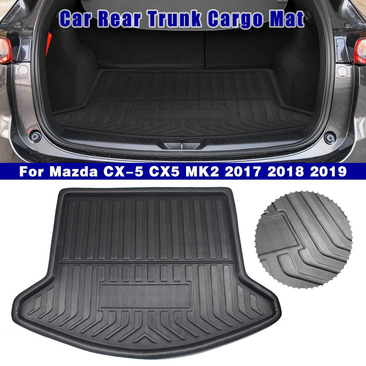 Cargo Liner Boot Tray Rear Trunk Cover Matt Mat Floor Carpet Kick Pad Mud Non-slip For Mazda CX-5 CX5 MK2 2017 2018 2019 2nd
