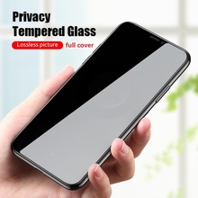 Black Private Screen Protector For iPhone 11 12 7 8 6 6s plus XS pro max Mini Anti-spy full cover Tempered Glass on iPhone XR X cheap felfial Anti Glare CN(Origin) Front Film Apple iPhone iPhone 5 iPhone 6 iPhone 6 plus iPhone 5s iPhone 6s iPhone 6s plus