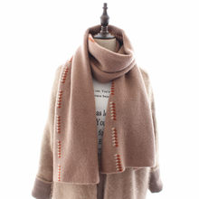 New Knitted Scarf Female with Jacquard of Wheat Spikes in Autumn and Winter of2019,Korean version lengthened lady's woolen scarf(China)