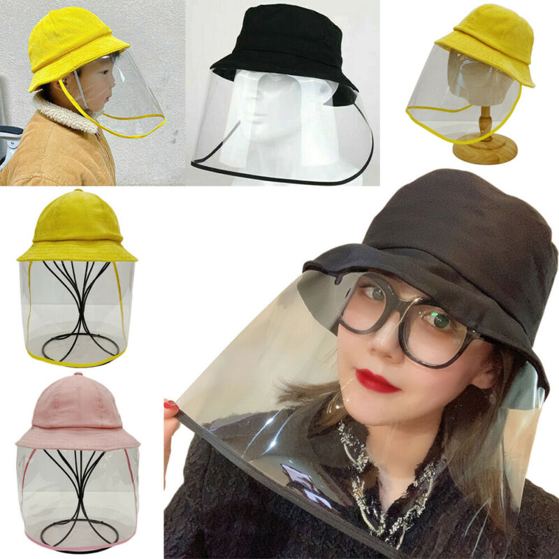 2020 Fashion Women Men Anti Spitting Fisherman Cap Protective Hat Face Shield Safety Hats For Adult