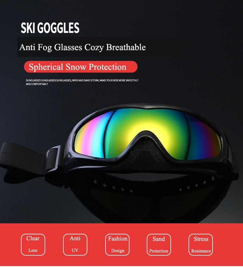 Cycling Glasses Outdoor Sports Cycling Goggles Mountain Bike Cycling Eyewear UV400 Sunglasses Anti Fog Sand Snow UV Protection