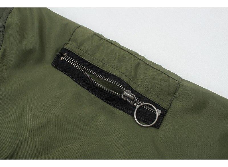 Hca2a4078d73648bab8705b5df49ffea1M Artsnie Autumn 2020 Bomber Jacket Women Army Green Warm Zipper Pockets Winter Coat Female Jacket Parkas Femme Chaqueta Mujer