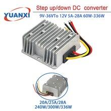 Step up/down DC Converter 9V-36V TO 12V 5A 10A 20A 25A 28A 60W-336W dc dc converter