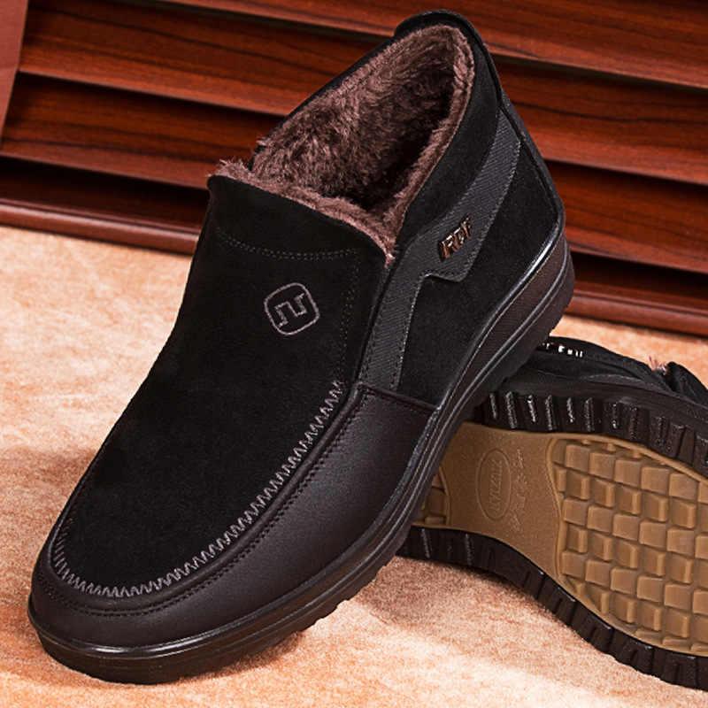 גברים גדול גודל מגפי חורף נעלי פרווה חמה מגפי גברים מגפי שלג מגפי גברים חורף מגפיים נעלי אופנה Mens נעלי חורף