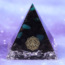 Orgonite Pyramid Energy Black Tourmaline With Green Agate Aluminium Scrapenergy Orgone Meditation Pyramids Healing Crystals Reik
