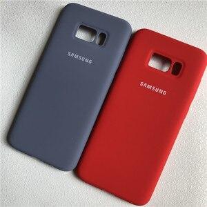 Image 3 - Samsung galaxy s8 s8plus capa de silicone, fundo fechado, toque macio, proteção completa para galaxy s8/8 + com caixa