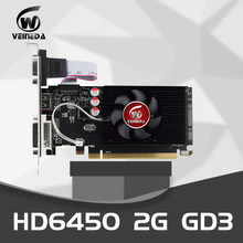 Veineda placas gráficas originais gpu hd6450 2gb ddr3 64bit placas de vídeo vga pci express para ati radeon gaming