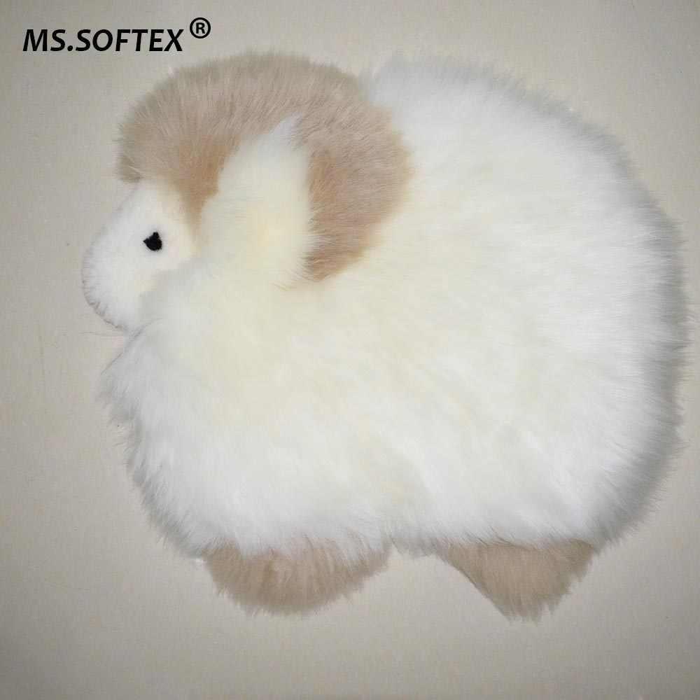 さん Softex 天然羊のシートクッション本物の羊クッションスモールラグ漫画シープスキンホーム敷物ベビー敷物