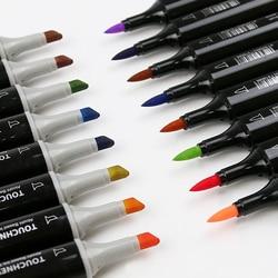 80 ألوان مزدوجة علامات فرشاة القلم ، قلم ملون غرامة نقطة أقلام تلوين وفرشاة قلم تحديد للكبار تلوين اليد حروف