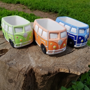 Image 3 - Cute Car Concrete Planter Mold Silicone Flowerpot Mould Handmade Cement Home Decoration Tool
