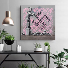 Little Girl Spray Paint Canvas Poster Nordic Decorative Pictures Painting Modern Wall Art Canvas Painting Home Decor Art Prints hot sale green leaf canvas poster nordic decorative pictures painting modern wall art canvas painting home decoration art prints