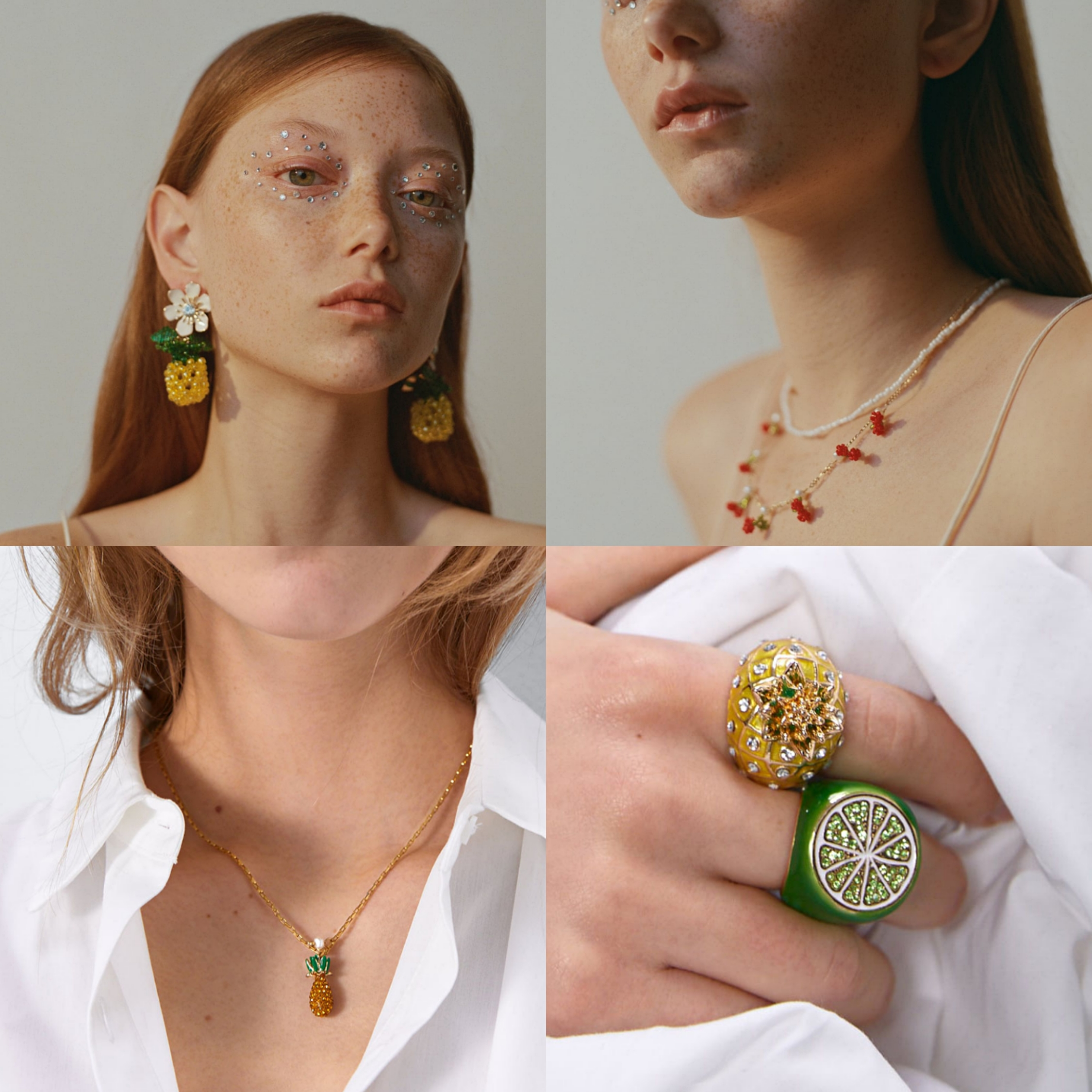 ZA 2020 New Style Fruit Earring Cute Cherry Pineapple Drop Earring Boho Handmade Beaded Earring For Women Chic Gift Wholesale