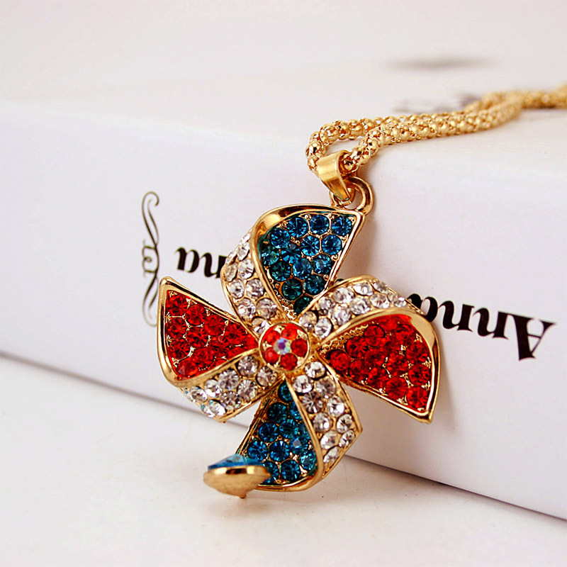 Boho Glass Windmill Fruit Pendant Necklace Animal Heart Women Statement Necklace 2019 Luxury Jewelry Accessories Gift Wholesale in Pendant Necklaces from Jewelry Accessories