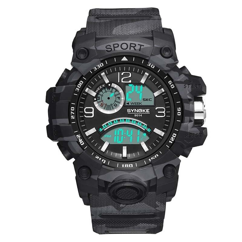 Men Military Watch  Waterproof Wristwatch LED Quartz Clock Sport Watch Male  Sport S Shock Watch Men