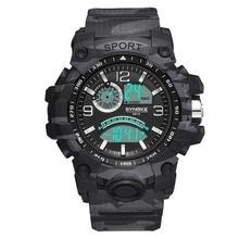 Men Military Watch  Waterproof Wristwatch LED Quartz Clock Sport Watch Male  Sport S Shock Watch Men цена и фото