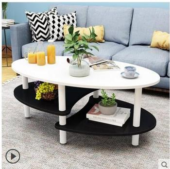 цена на Simple and simple tea table simple modern sitting room tea table balcony Nordic oval small tea table small family creative econo
