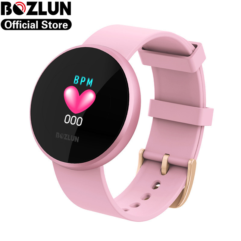 2020 Bozlun Fashion Women Smart Digital Watches Female Physiological Reminder Heart Rate Bracelet Calorie Beauty Smartwatch B36