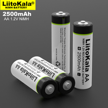 4pcs/lot NEW Liitokala 1.2V AA 2500mAh Ni MH Rechargeable battery aa for Temperature gun remote control mouse toy batteries