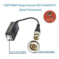 20PCS(10 pairs) HD CCTV Via Twisted Pairs Adapter HD CVI/TVI/AHD Passive Video Balun Male BNC to UTP Cat5/5e/6 Network Camera