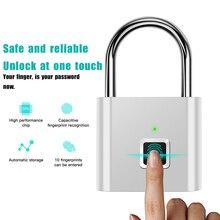 Waterproof USB Charging Fingerprint Lock USB Keyless Quick UnlockFingerprint Smart Padlock Quick Unlock
