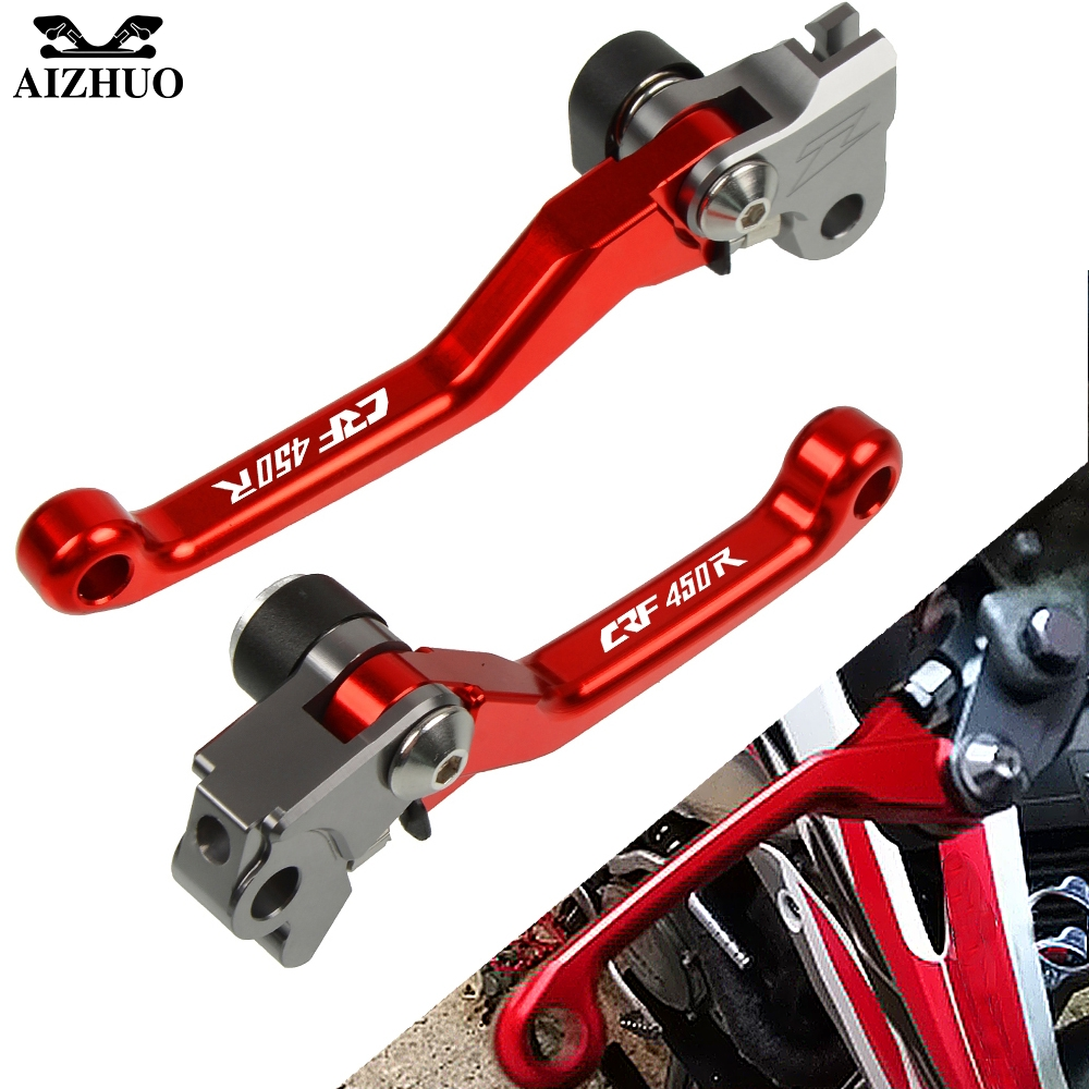 CNC Pivot Brake Clutch Levers FOR HONDA CRF450R CRF450 R <font><b>CRF</b></font> <font><b>450R</b></font> 450 R 2007-2019 2018 2017 <font><b>2016</b></font> Motorcycle Dirt Pit Bike Levers image