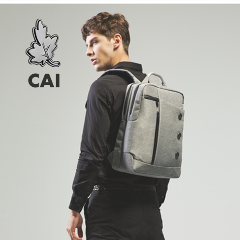 CAI Couple Waterproof Backpack Customized Business Travel Bag 14