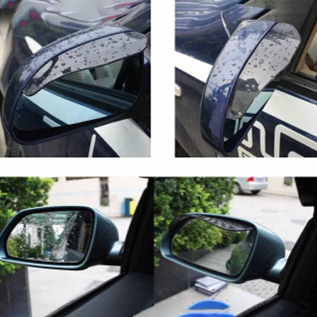Auto Rückspiegel Regen Augenbraue Auto Regen Visier Transparent Verdickung OPP Tasche Zwei Stücke Blcak Transparent