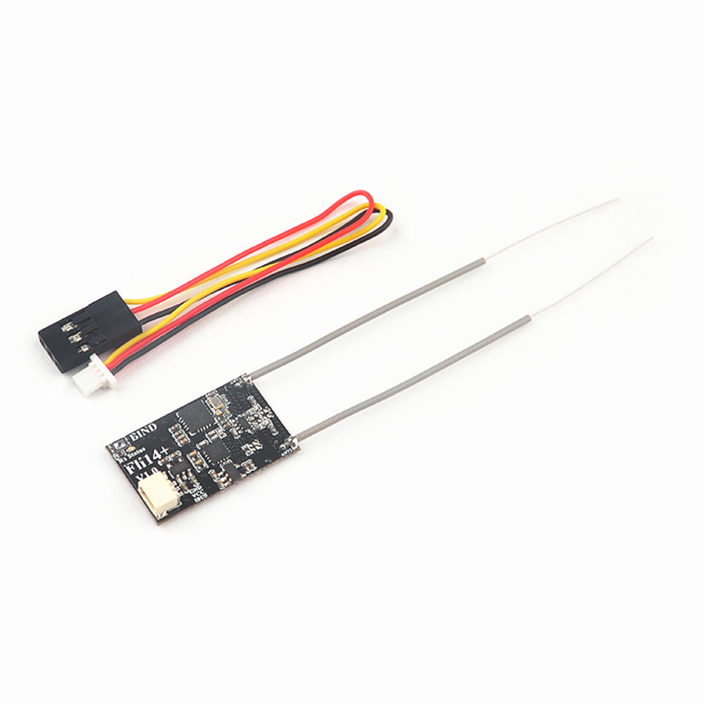 1.7g Fli14+ Fli14 Plus 14CH Mini Receiver Compatible Flysky AFHDS-2A With RSSI Output For FS I6 I10 I6x Turnigy I6S RC Drone
