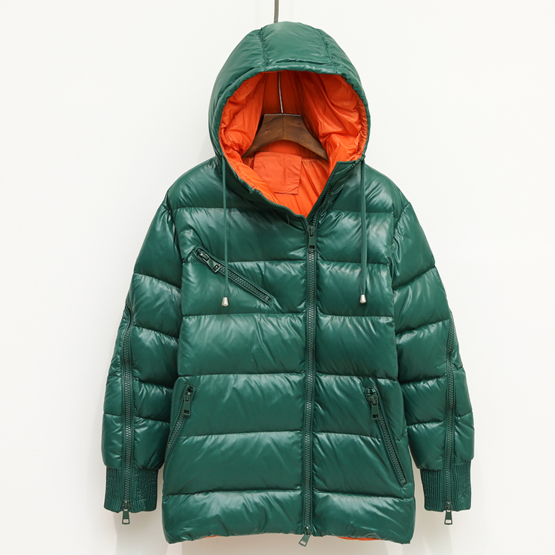 Brand Winter Female Jackets Light Women's Down Jacket Hooded Clothes 2019 Korean Thick Warm Duck Down Coat Hiver LW1525
