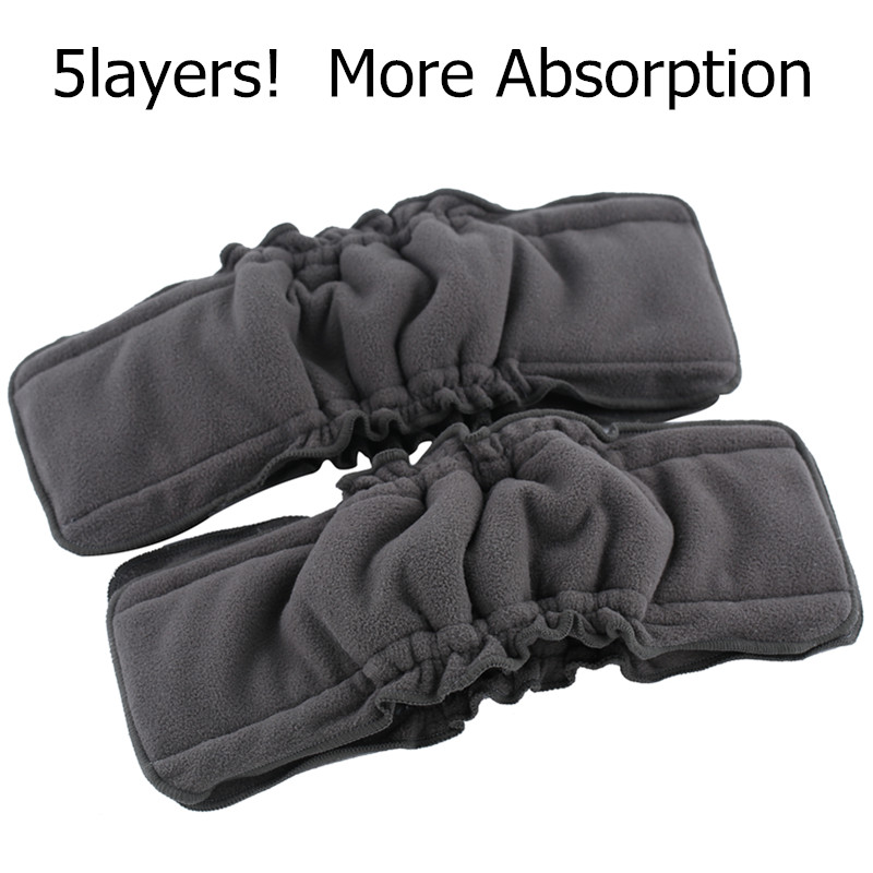 5PACK /10PACK Reusable Bamboo Charcoal Insert Baby Cloth Diaper Mat Nappy Inserts Changing Liners 4layer Each Insert Wholesale