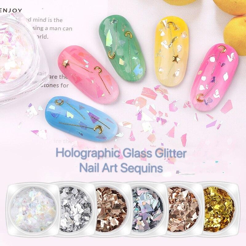 Купить 3d набор с блестками голографический блестящий для ногтей в