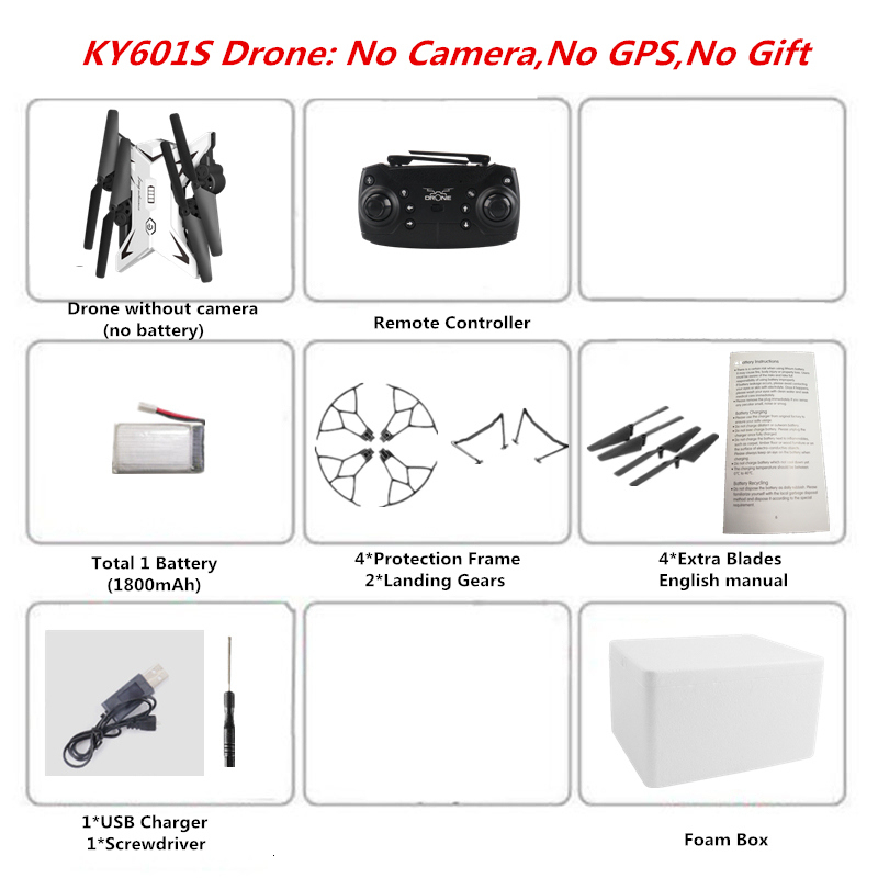 KY601G GPS Drone 4K Quadcopter with 5G Wifi Camera 2000 Meters Control Distance RC Helicopter Quadrocopter Toy VS XS812 E520S