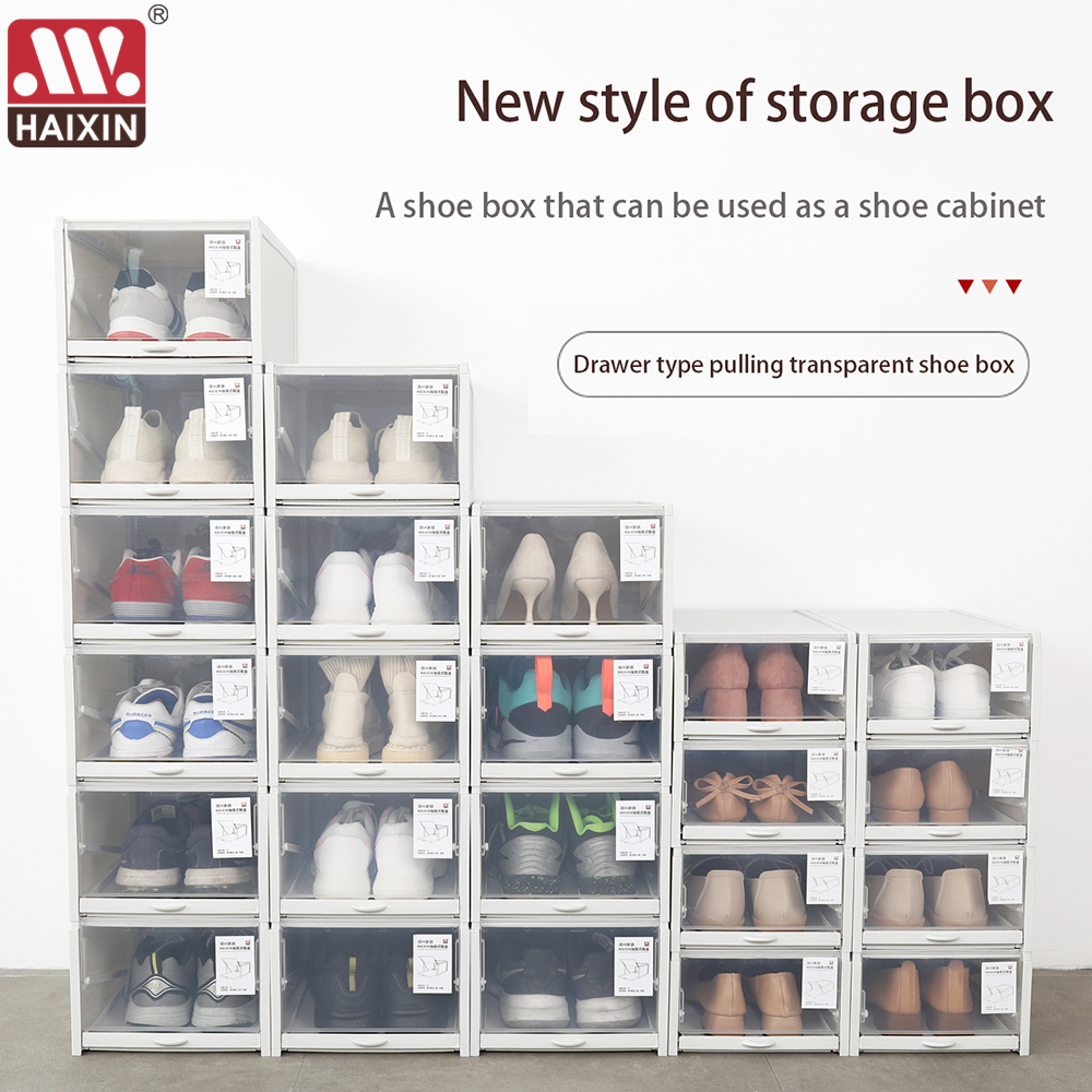 20 Plastic Shoe Box Transparent Clear Sneakers For AJ Display ...