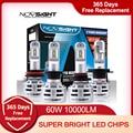 NOVSIGHT H7 светодиодный H4 H11 HB3 9005 HB4 9006 Автомобильные светодиодные лампы для фар 60 Вт 10000LM Автомобильные фары Противотуманные фары 12 В 24 В