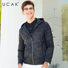 UCAK Brand Bomber Jacket Men Streetwear Fashion Zipper Coat 2019 New Autumn Mnes Jackets And Coats hooded Windbreaker U8006