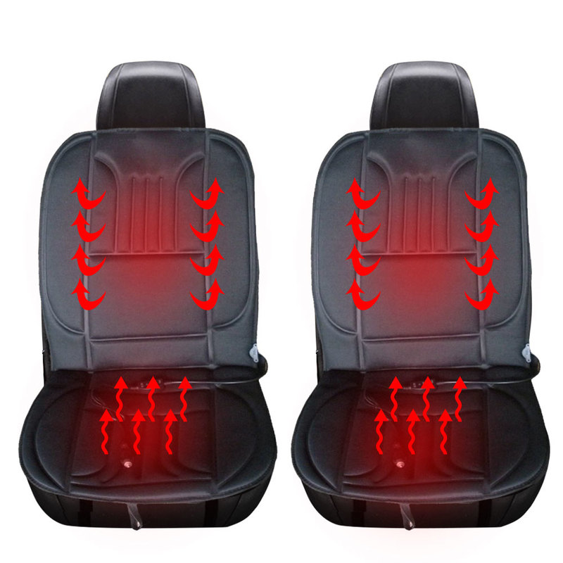 12V Heated Car Seat Cover Universal Heater Cushions Winter Warm Auto Front Driver Heating Seat Pads Temperature Controlled