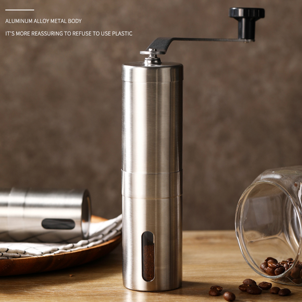 Coffee-Grinder Embossing-Machine Manual Portable Hand-Held Stainless-Steel Mini for French