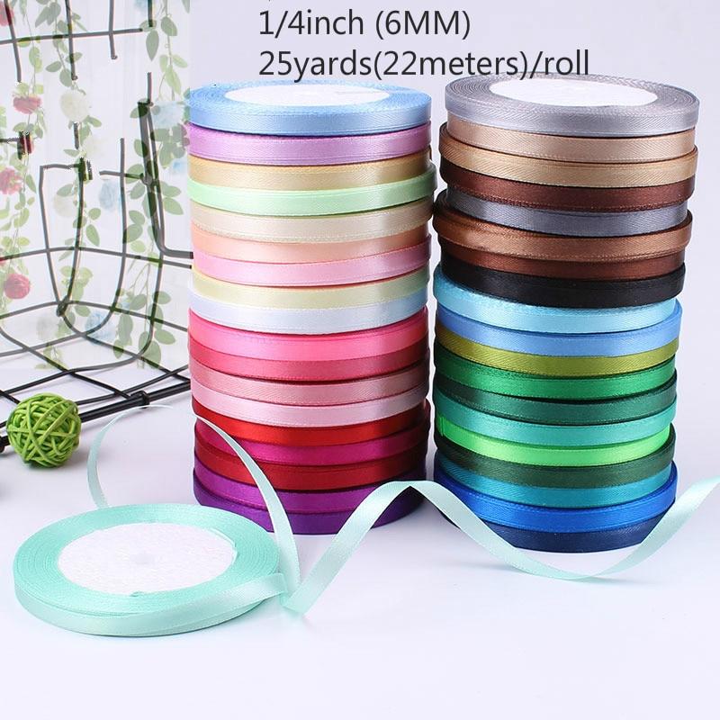 Silk Satin Ribbon Scrapbooking-Supplies Invitation Card-Gift Sew-Craft Riband Wedding-Party-Decoration