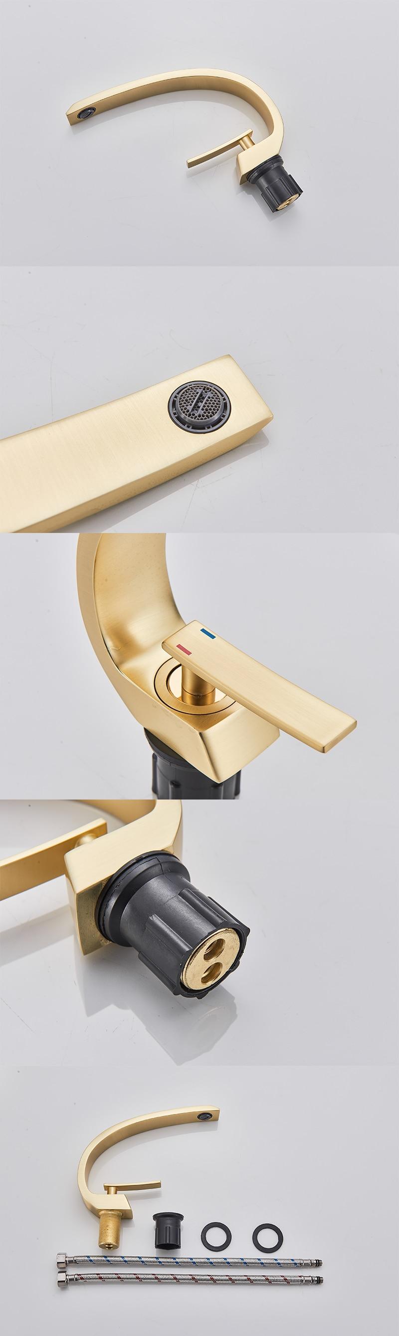 Hca2cb1bd535e4728b1170bab689e9cc1X Senlesen Bathroom Faucet Ceramic Valve Cold and Hot Water Mixer Tap Single Handle Vanity Sink Basin Faucets