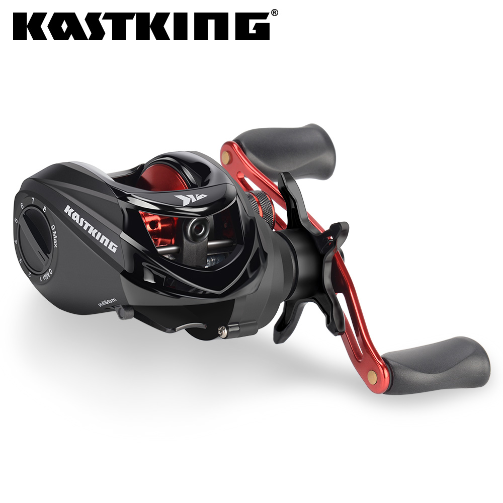 KastKing Brutus Baitcasting Fishing Reel 6.3:1 Gear Ratio Brass Main Gear Shaft Graphite Frame Aluminum Handle Fishing Coil(United States)
