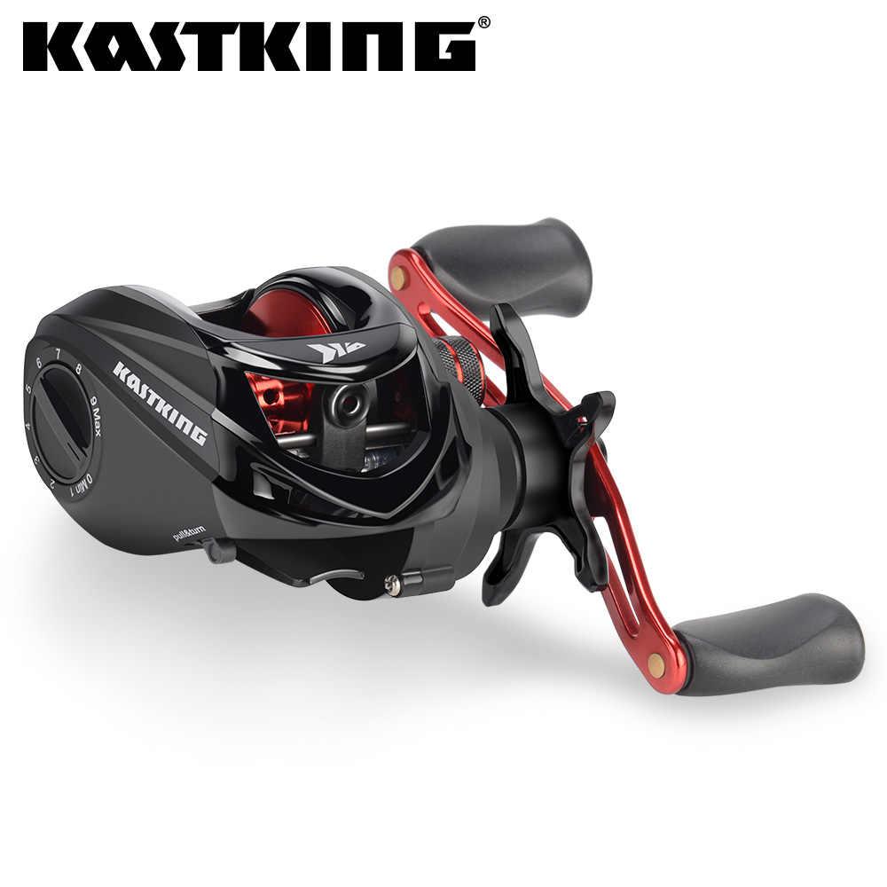 KastKing Brutus baitcast الصيد بكرة 6.3:1 نسبة والعتاد النحاس الرئيسي والعتاد رمح الجرافيت الإطار مقبض ألمونيوم الصيد لفائف