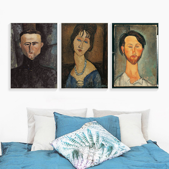 Modern Woman Portrait by Amedeo Modigliani Canvas Print Painting Poster Wall Pictures for Living Room Home Decor Wall Art image